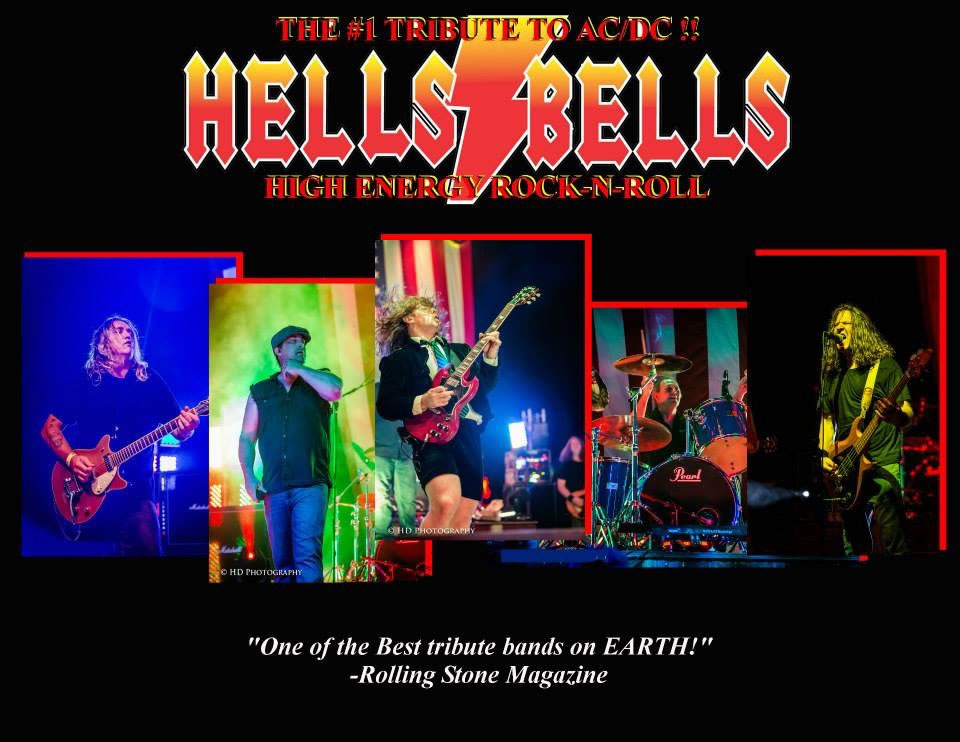 hells bells logo and 5 individual photos of band members